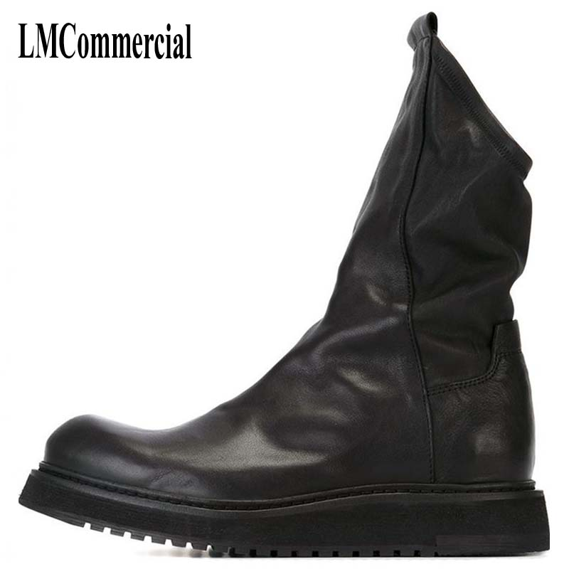 Martin boots male winter new men leather boots with retro casual shoes Korean British shoes Men breathable casual handmade