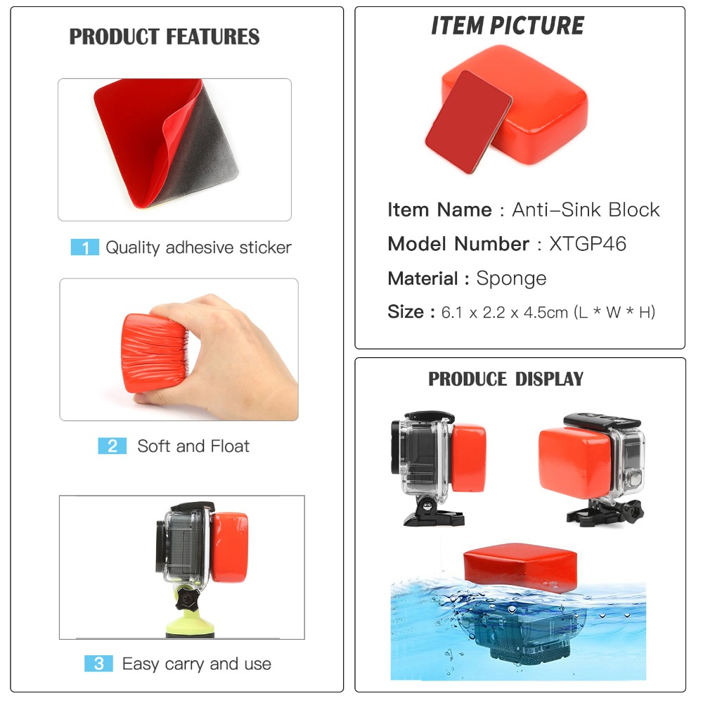 Image 4 - SHOOT Action Camera Accessory for GoPro Hero 8 7 6 5 4 Black Xiaomi Yi 4K Lite SJCAM SJ7 Eken H9 Go Pro Mount for Sony Nikon Set-in Sports Camcorder Cases from Consumer Electronics