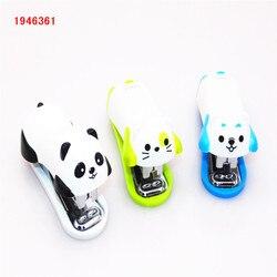 3 colors Mini stapler set animal Stapler Set School Office Supplies Stationery Paper Binding Binder Book