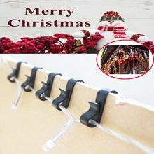 100 חבילה Gutter קליפים/ווי חג מולד פיות אורות