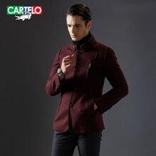 Cartelo бренд 2016 новый двойной воротник кашемир мужчины шерстяной жакет смеси зимней моды бизнес случайный пальто jsjd1608
