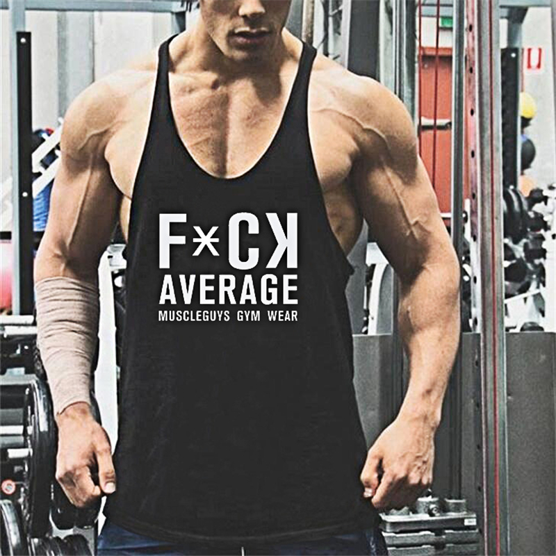 Muscle guys animal print Cotton   tank     tops   bodybuilding fitness men gyms work out vest men fitnes shirt men   tops