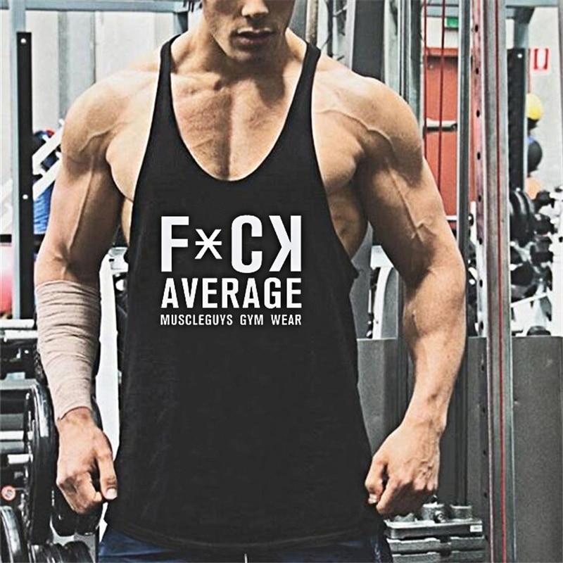 Muscle guys animal print Cotton tank tops bodybuilding fitness men Golds gyms work out vest men fitnes t shirt men tops