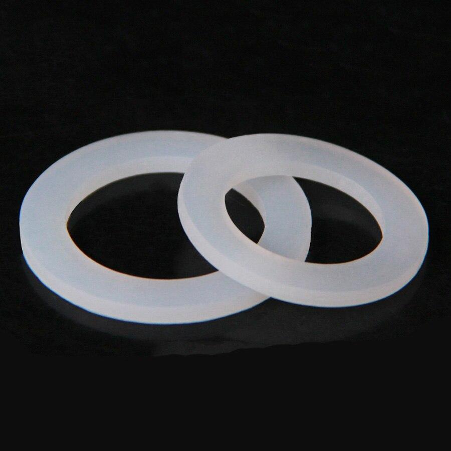 10 pces dn8/10/15/20/25/32/40 silicone junta plana selagem lavadora espaçador para 1/4