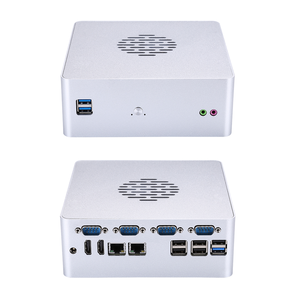 Kansung Fan Mini PC K600P Barebones 6th 7th Gen Processor LGA1151 FAN M.2 Dual Lan 4 RS-232 Industrial PC Support 2 X 16G RAM