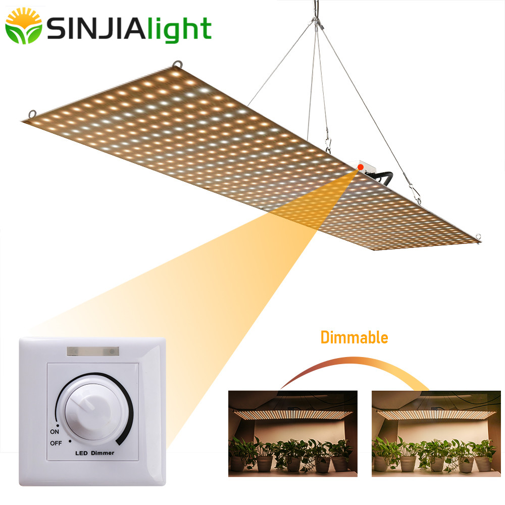 2019 Newest Dimmable 500W LED Plant Grow Light Full Spectrum Phyto Lamp Led For Cultivo Indoor Seeds Vegs Grow Tent Greenhouse