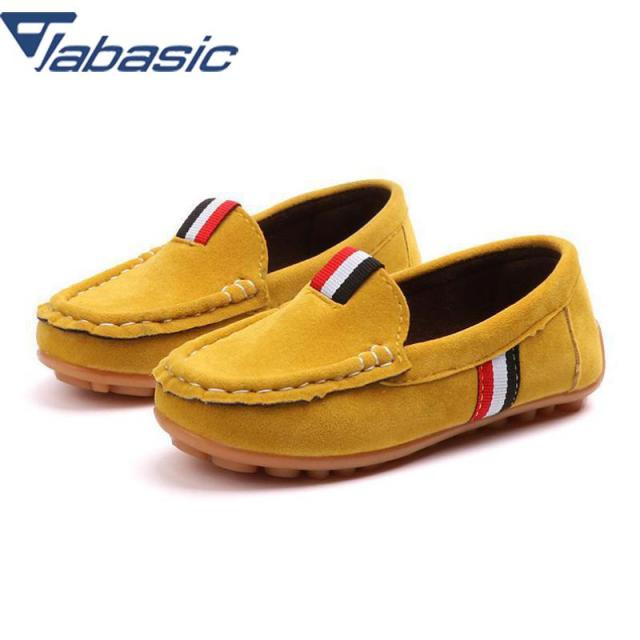 JABASIC Kids Leather Shoes 2018 Casual Shoes Boys Loafers All Sizes 21-36 Boys Slip-on Soft Breathable Shoe Girls Party Shoes