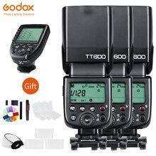 Godox 3xTT600 2.4G Wireless Camera Flash Speedlites + Xpro Transmitter Trigger for Canon Nikon Sony Fujifilm Fuji Olympus Pentax