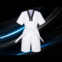 Profession White Taekwondo Brand New Product Adult child kids Breathable cotton uniform Approved clothes
