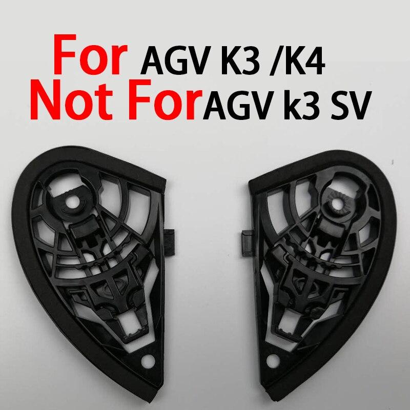 Pour AGV K3 CASQUE Bouclier pivot Kit pour AGV K4 Plein visage moto casques pas pour agv k3 sv et k5 1 paire D'origine partie dans Casques de Automobiles et Motos