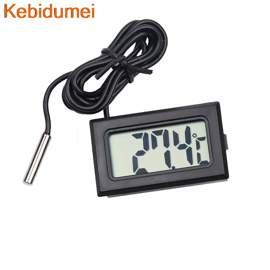 Electronic Voltage Tester For A Refrigerator : Thermometer electronic digital lcd display degree
