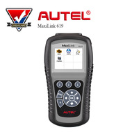 5pcs/lot AUTEL AutoLink ML619 CAN /OBD2 + ABS/SRS Scanner Turns off Engine Light (MIL) and ABS/SRS Warning Lights