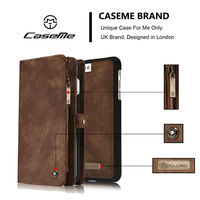 Genuine Leather Phone Case For Iphone 6 6S 7 Plus 2 In 1 Magnetic Wallet Case