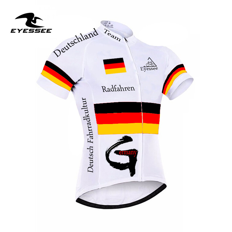 Deutsch Men Cycling Jersey Bicycle Bike Shirt Team Germany Radfahren Deutschland