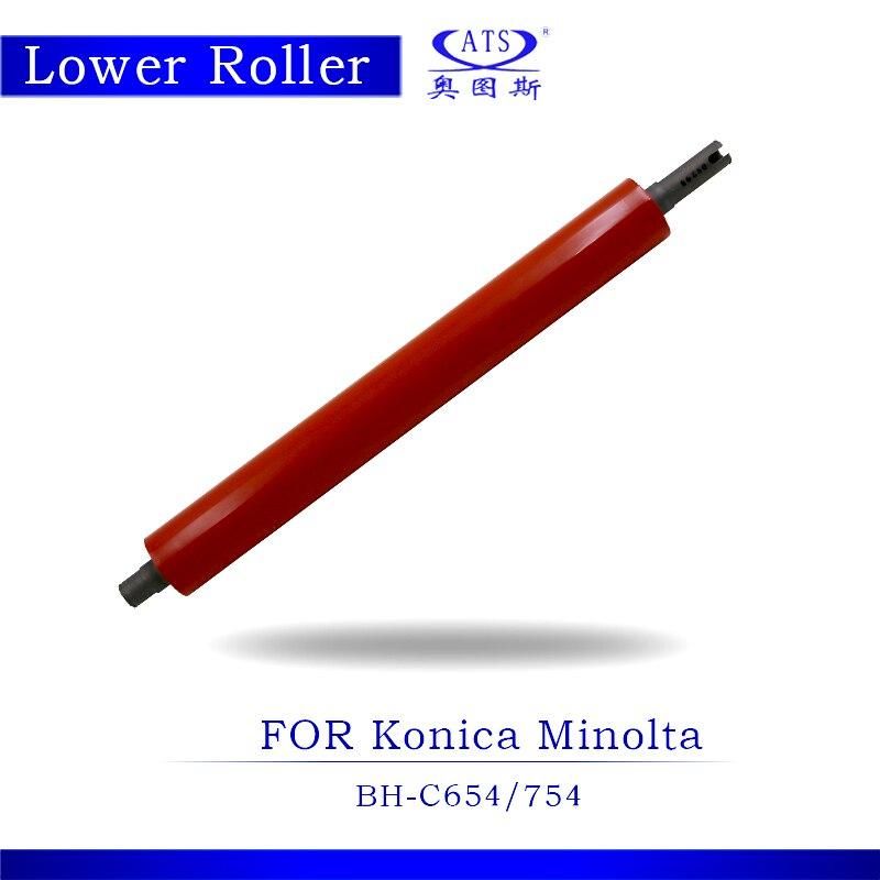 1PCS Photocopy Machine Lower Pressure Fuser Roller For Konica Minolta BH C 654 754  Copier Parts BHC654 2pcs high quality new arrival copier spare parts driver board for minolta di 220 photocopy machine part di220
