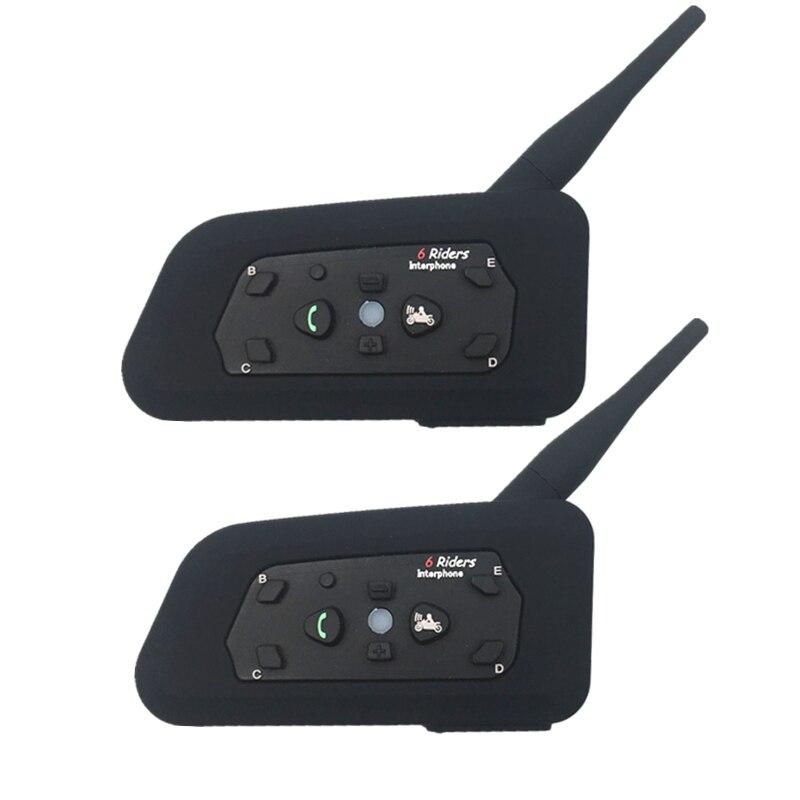 2018 new 1200m Full Duplex Communication Headset 4 Riders Talking For Football Referee Judge Biker Wireless BT Intercom