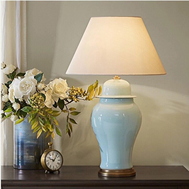 Современные Керамические Настольная лампа Villa Hotel Американский Настольный ночники гостиная настольная лампа N1377
