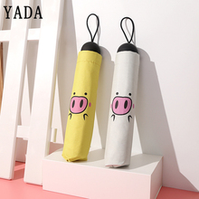 YADA Cartoon Cute Pig Pattern Folding Umbrella Rain Women uv High Quality Sun For Womens Windproof Umbrellas YS601