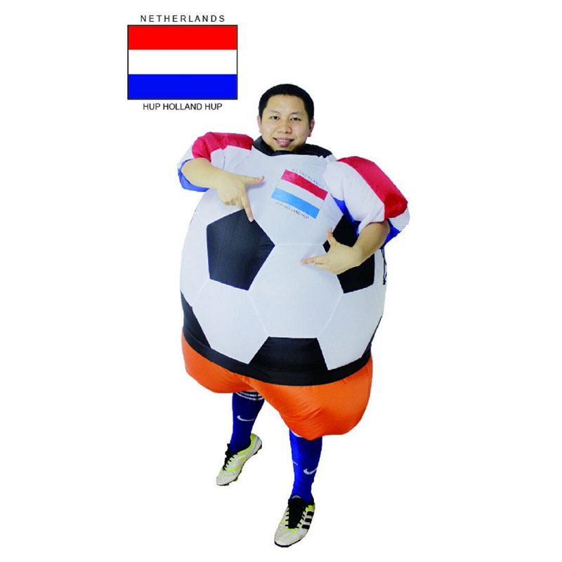 Netherlands inflatable costume Holland national team costume foot ball Inflatable Ball Soccer baby Worldcup carnival for adult