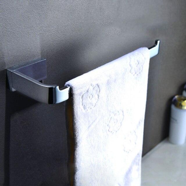 Najnowszy łazienka akcesoria mosiądzu chromowanie wieszak prętowy do ręczników do montażu na ścianie ręczniki wsparcie stojak do przechowywania