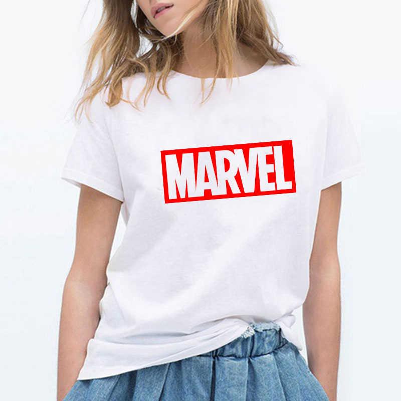 Camisa de verão de manga curta casual de manga curta o pescoço moda slogan t-shirts luslos marvel t camisa superheros moda preto branco