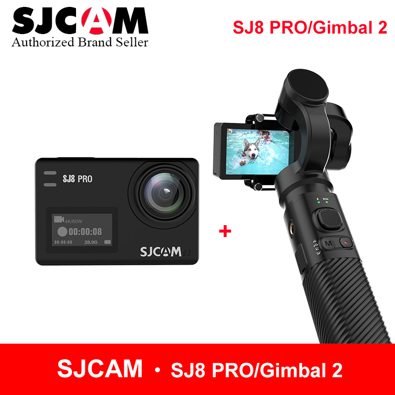 SJCAM Accessory SJCAM SJ8 PRo Series SJ7 STAR SJ6 legend Handheld 3-Axis Gimbal 2 Stabilizer for sjcam sj8 pro yi 4k action cam update sjcam handheld gimbal sj gimbal 2 3 axis stabilizer bluetooth control for sjcam sj8 series sj7 star sj6 sj8 pro yi 4k cam