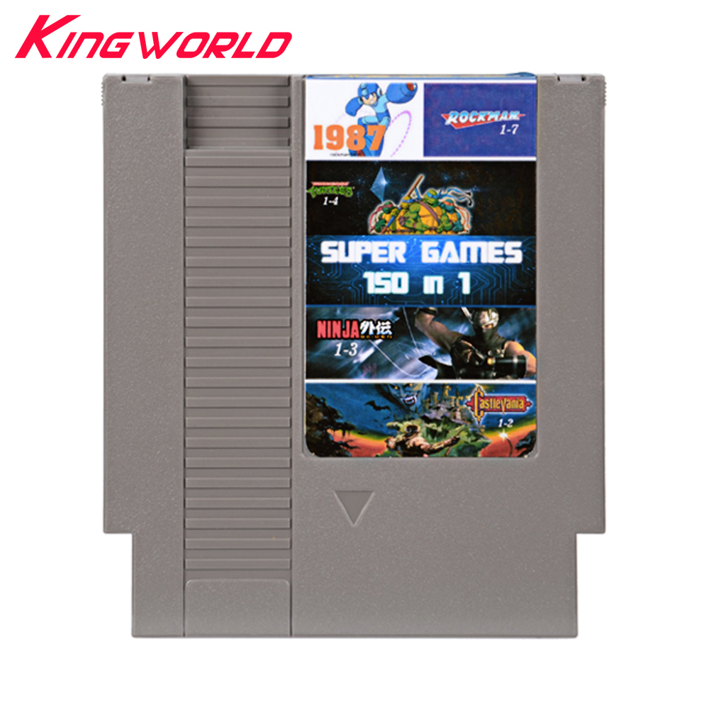 High quality 150 in 1 Game Cartridge For NES 72 Pins 8 bit with Free Dust Sleeve