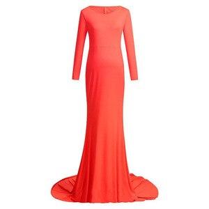 Image 3 - Robe de maternité Maxi, pour séance de Photo, accessoires de photographie de maternité, tenue de grossesse, nouveauté