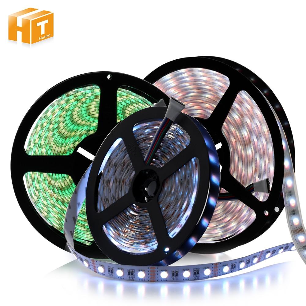 4 цвета в 1 светодиодный RGBW RGBWW Светодиодные ленты Водонепроницаемый DC 24 В 12 В 5050 SMD 60 светодиодный/m 5 м/лот 5050 Светодиодные ленты свет