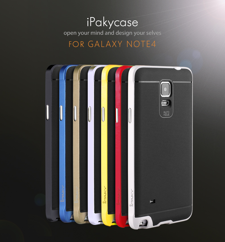 super popular 79ad1 d1574 US $4.99 |High quality Original ipaky brand case for Samsung note4 silicone  protective cover for galaxy note 4 in stock,free shipping -in Fitted Cases  ...