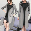 Fashion 2017 Korean Office Elegant Long Trench Coat Women Casual Spring Autumn Suede Windbreaker Female Open Stitch Overcoat