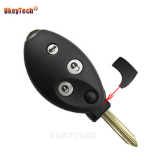 OkeyTech for Citroen Xsara Picasso C8 C4 C5 C3 Berlingo Replacement 3 Button Remote Flip Switchblade Key Shell Case Cover Fob