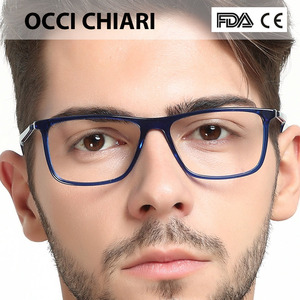 Image 4 - High Quality Acetate Retro Prescription Medical Optical Eye Frames Men Hand Made Glasses Frame Male black OCCI CHIARI W CANO