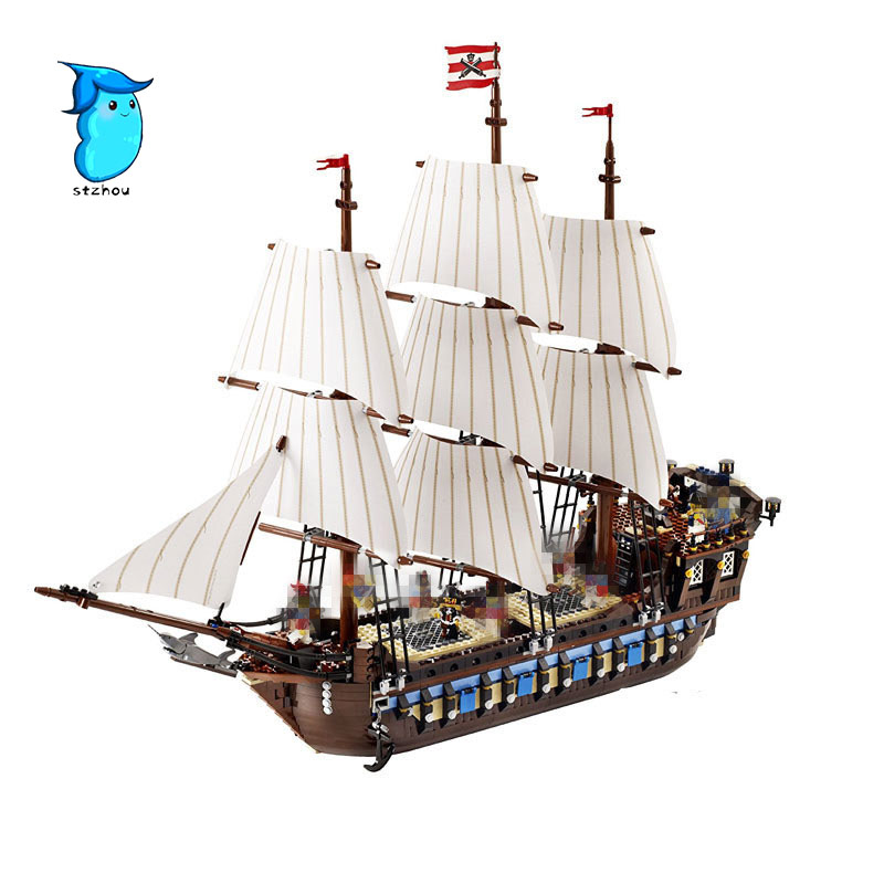 StZhou LEPIN 22001 Pirate Ship warships Model Building Kits Block Briks Toys Gift 1717pcs Compatible in stock new lepin 22001 pirate ship imperial warships model building kits block briks toys gift 1717pcs compatible10210