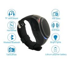 Wi-fi Bluetooth Watch Speaker WIth MIC TF Card FM Radio Wristband Sensible Bracelet Bluetooth Speaker For sports activities operating