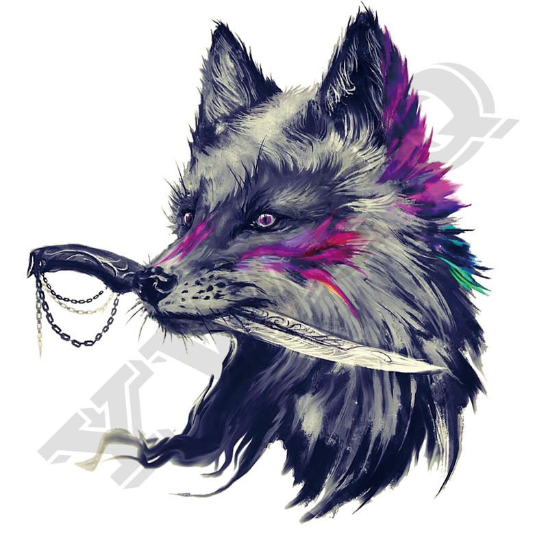 Iron On Patch Cool Fox 2018 New A-Level Washable T-Shirt Diy Decoration Easy Print By Household Irons Parches Ropa Applique 1