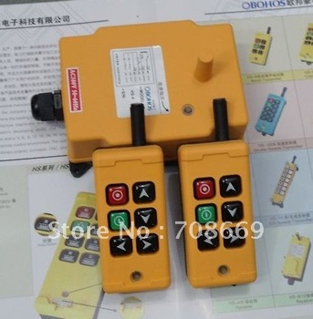 2 Transmitters 2 Motions 1 Speed Hoist Crane Truck Remote Control System 220VAC