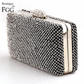 BlingBling Women's Fashion Brand Night Club Black Crystal Evening Bags Ladies Wedding Party Prom Hard Case Handbags Clutch Purse