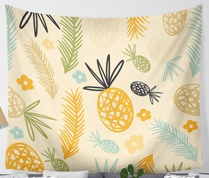 Image 5 - CAMMITEVER Waves Pineapple Fruit Tapestry Polyester Curtains Plus Table Cover Wall Hanging Tapestry Decor
