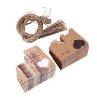 DIY 50pcs Wedding Hearts In Love Rustic Kraft Imitation Bark Candy Box With Burlap Chic Vintage