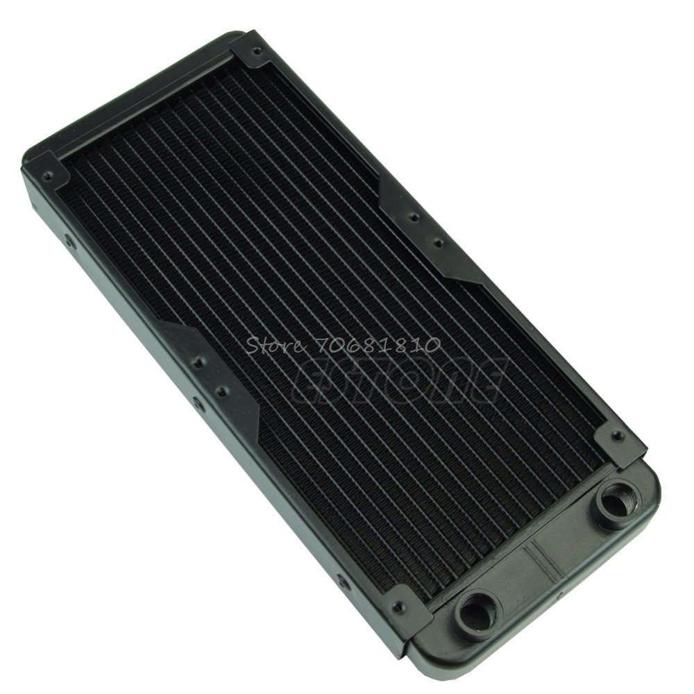 240mm G1/4 Aluminum Computer Radiator Water Cooling For CPU LED Heatsink  Drop Shipping 240mm water cooling radiator g1 4 18 tubes aluminum computer water cooling heat sink for cpu led heatsink heat exchanger