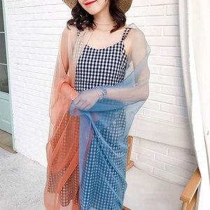 Image 4 - 2020summer silk scarf for women shawls and wraps fashion large size scarves pashmina beach stoles foulard lady echarpe hijabs
