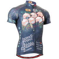 Men Cycling Jerseys Bike Clothings Summer Short Sleeve Breathable Quick Dry Fabric Bike Tops Shirts Bicycle