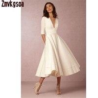 Zmvkgsoa Elegant Vestidos Mujer Woman A Line Vestido De Festa Black White Plus Size XXXL Dress