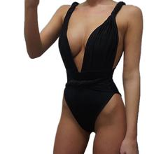 European Style Women One Piece Bikini Jumpsuit Swimwear Sexy Sling Halter Bodysuit For Ladies Swimming Summer Beach Swim Wear