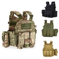900D Military Tactical Vest Molle Combat Assault Plate Carrier Tactical Vest Camouflage Vest Body Armor Molle Outdoor Equipment