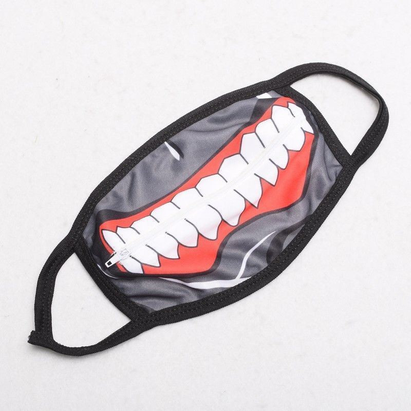Image 2 - Takerlama Kaneki Ken Face Masks Zipper Cycling Anti Dust Anime  Tokyo Ghoul Cosplay Maskmask zippermask maskmask face mask -