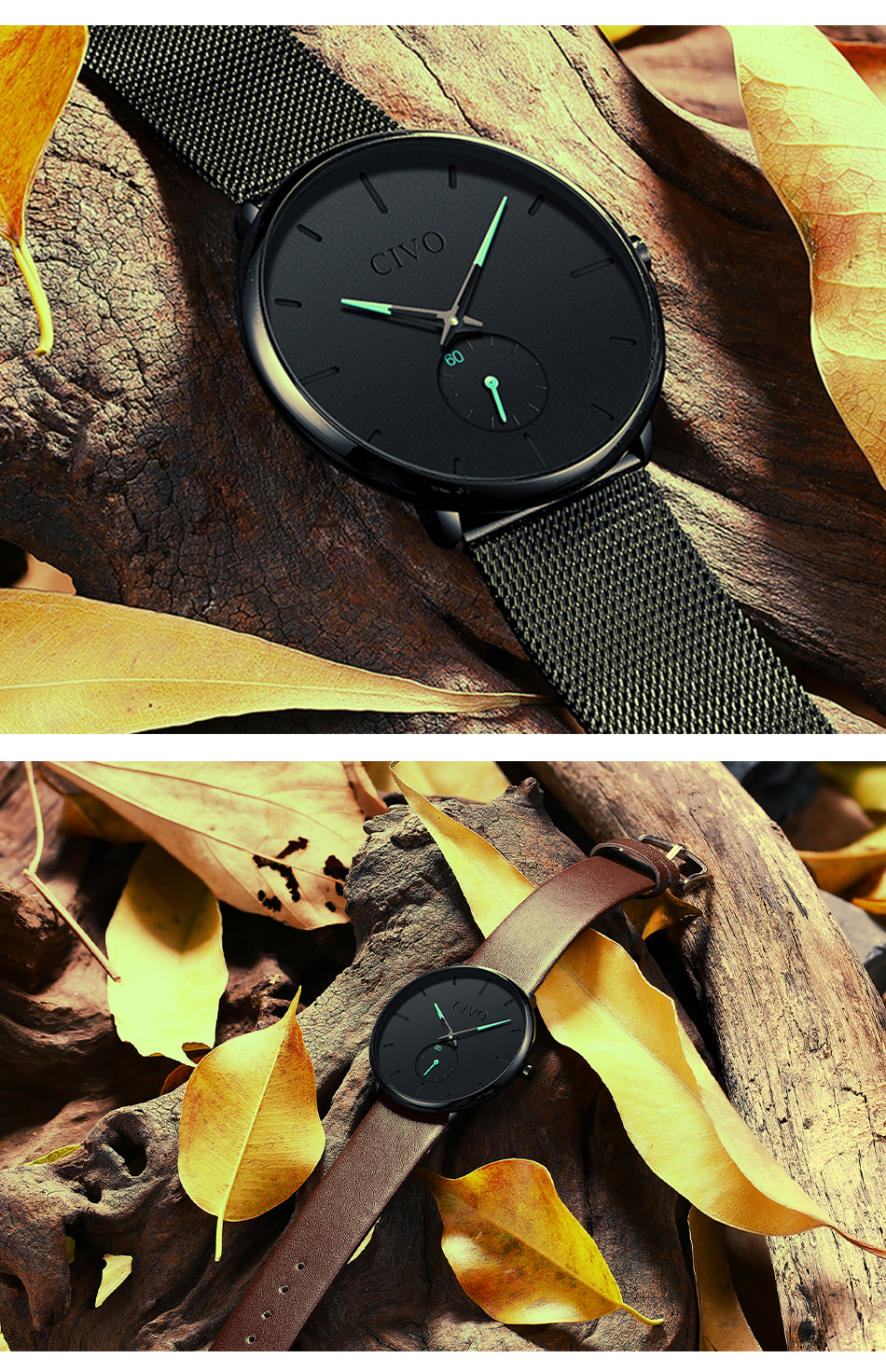 Minimalist Watch Waterproof Slim Quartz For Men 8