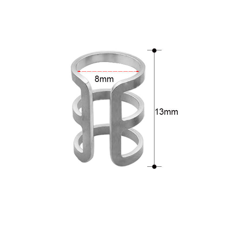 2Pcs 1.2x8mm Fake Clip On Cuff Wrap Upper Closure Rings Piercing Sexy Jewelry Steel CBR Ear Cuff Helix Cartilage Rings