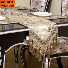 European Style Jacquard Bed Flag Table Runner Runners For Wedding Christmas Home Decor High Quality